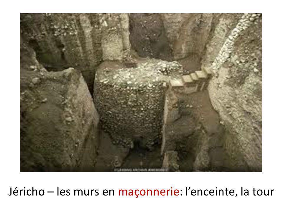 Jéricho – les murs en maçonnerie: l'enceinte, la tour