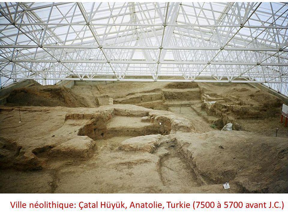 Ville néolithique: Çatal Hüyük, Anatolie, Turkie (7500 à 5700 avant J