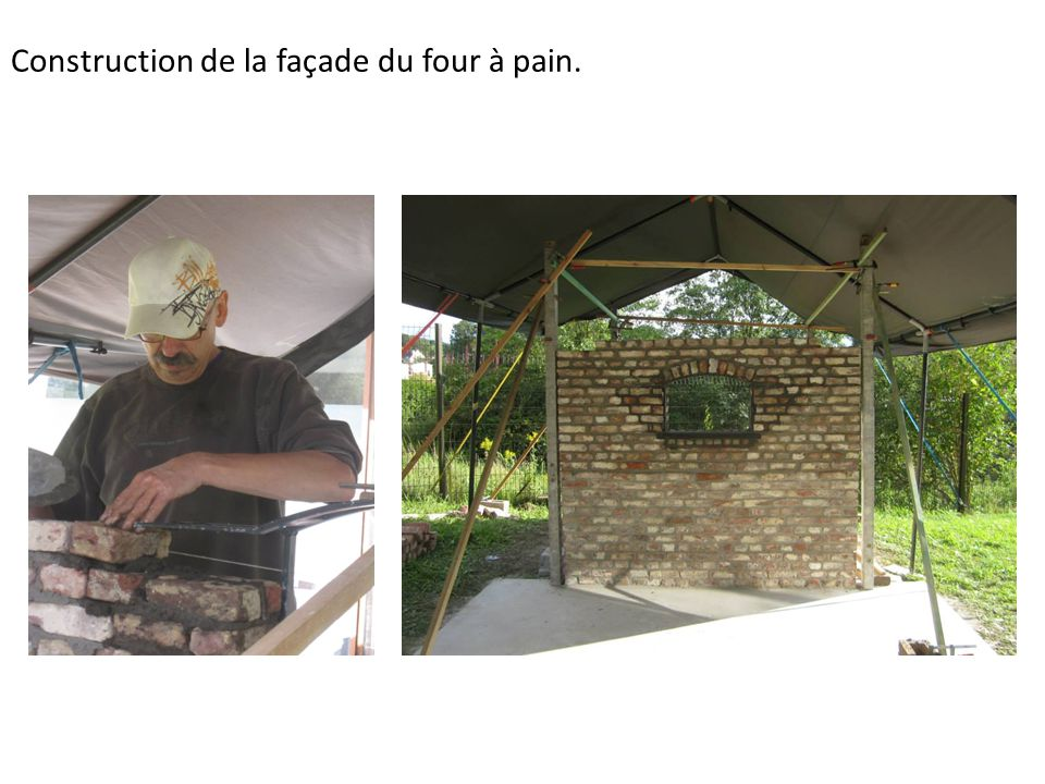 Construction du four pain de bled ppt video online for Four a pain construction