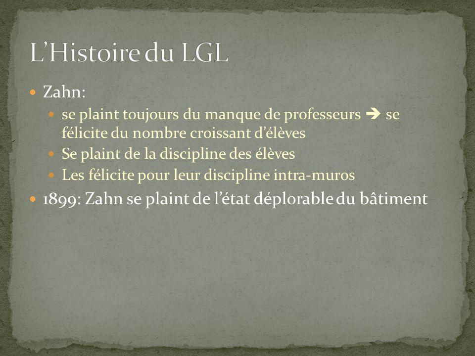 L'Histoire du LGL Zahn:
