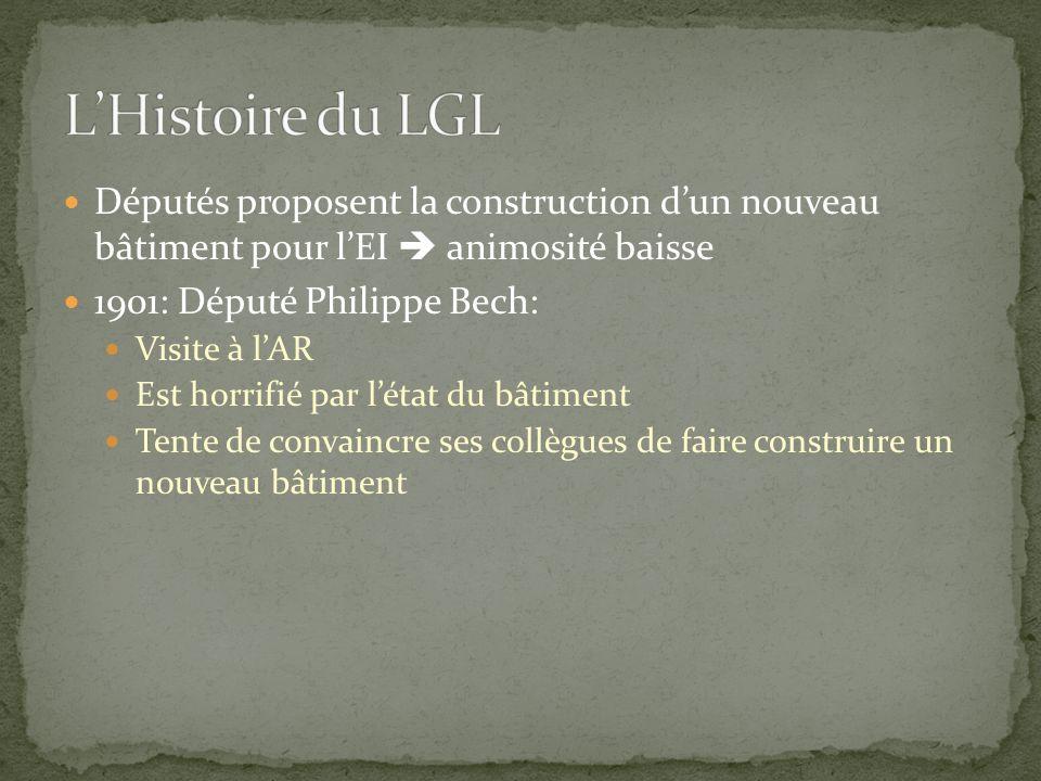 L'Histoire du LGL Députés proposent la construction d'un nouveau bâtiment pour l'EI  animosité baisse.
