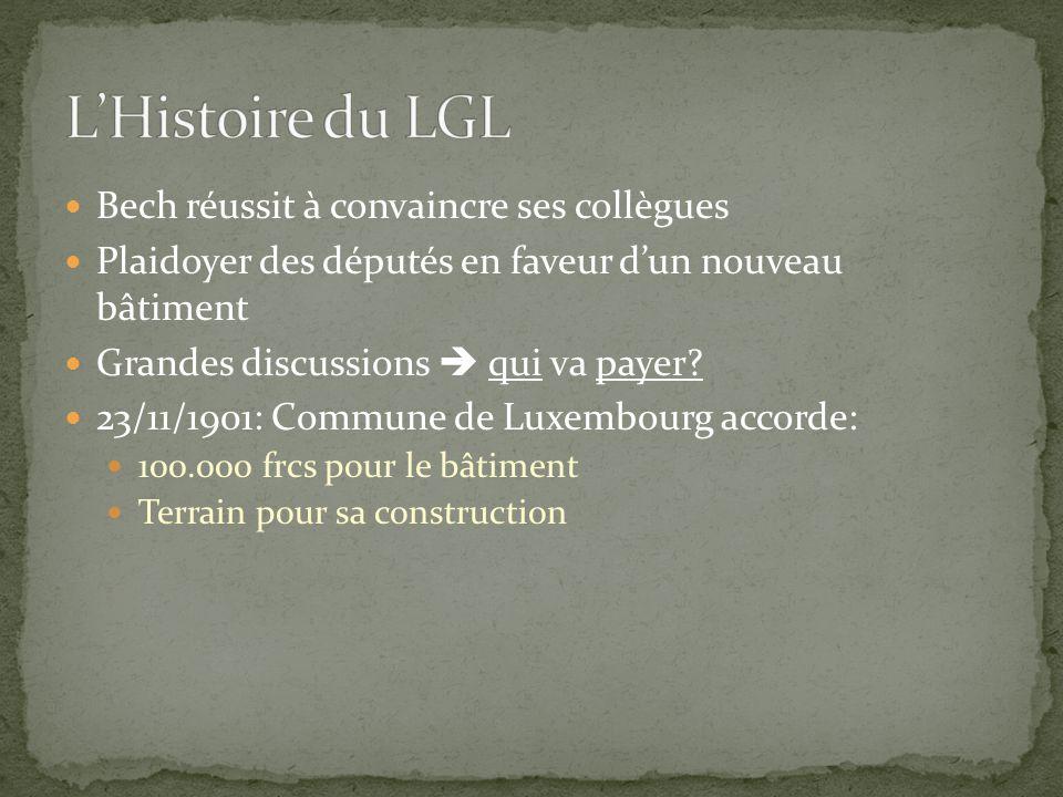 L'Histoire du LGL Bech réussit à convaincre ses collègues