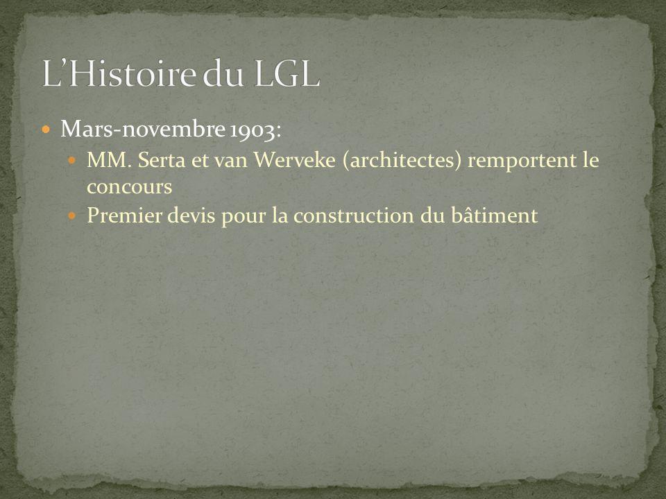 L'Histoire du LGL Mars-novembre 1903:
