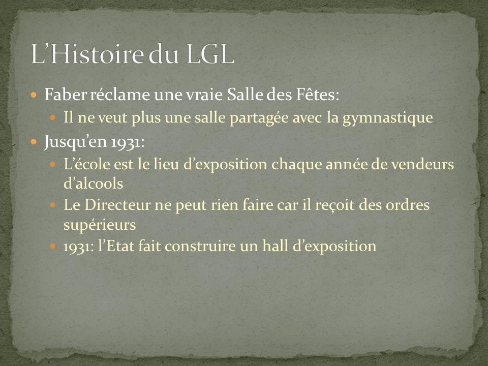L'Histoire du LGL Faber réclame une vraie Salle des Fêtes: