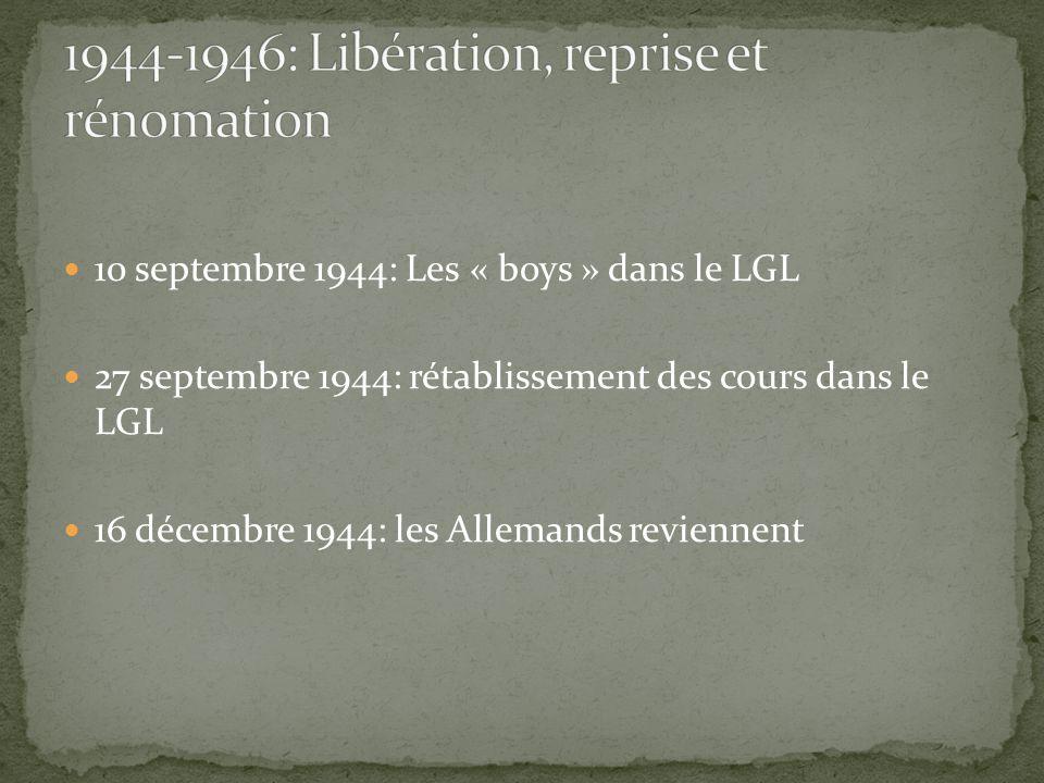 1944-1946: Libération, reprise et rénomation