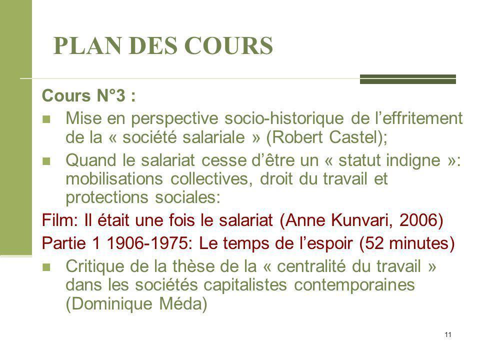 PLAN DES COURS Cours N°3 :