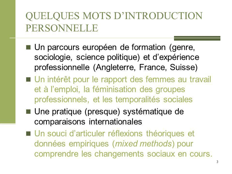 QUELQUES MOTS D'INTRODUCTION PERSONNELLE
