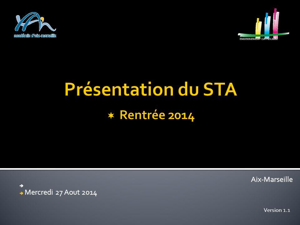 Présentation du STA  Rentrée 2014