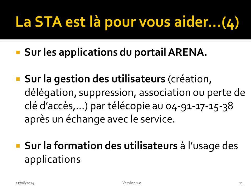 La STA est là pour vous aider…(4)