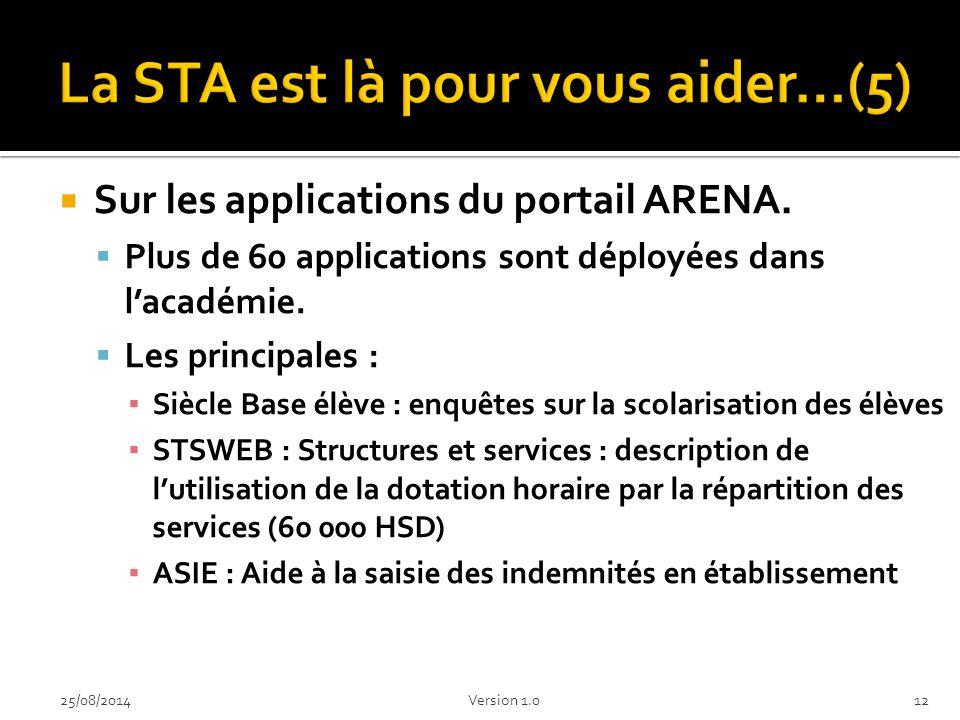 La STA est là pour vous aider…(5)