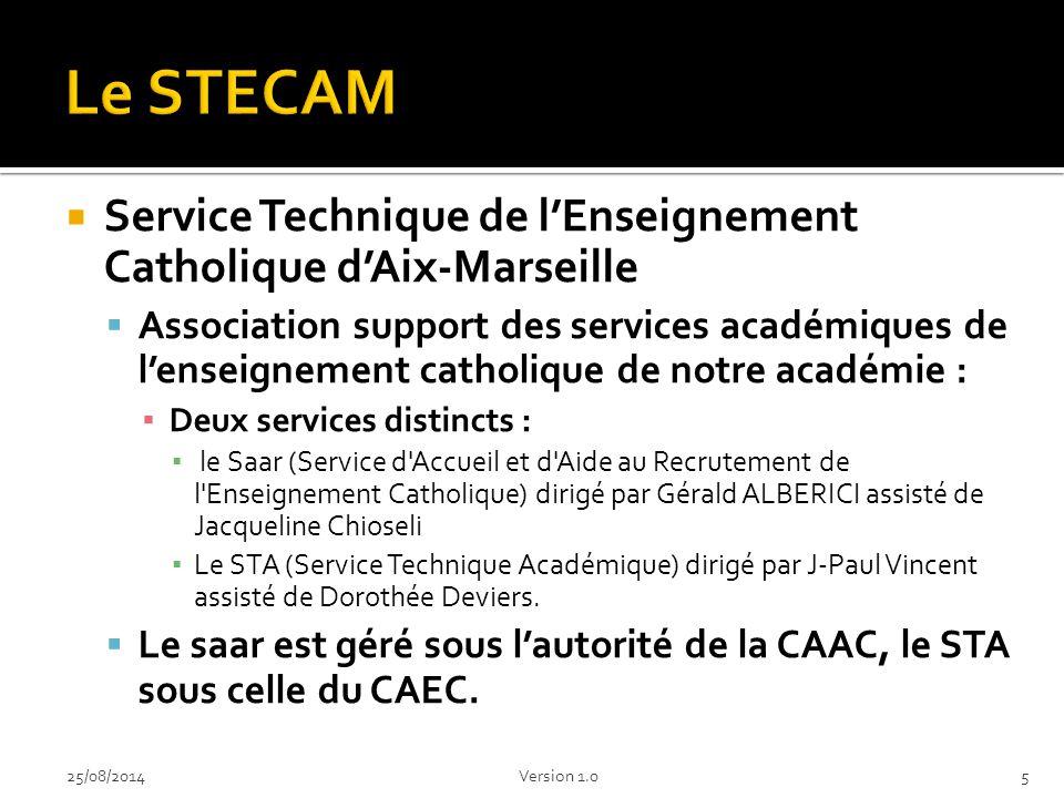 Le STECAM Service Technique de l'Enseignement Catholique d'Aix-Marseille.