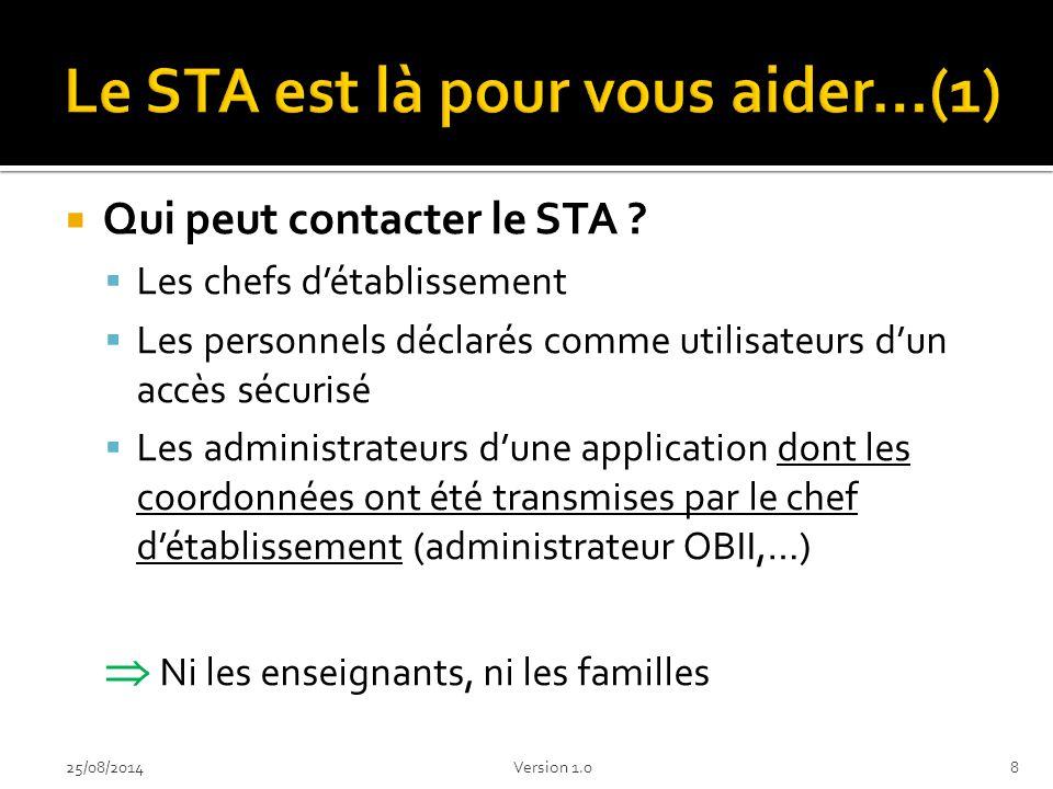 Le STA est là pour vous aider…(1)