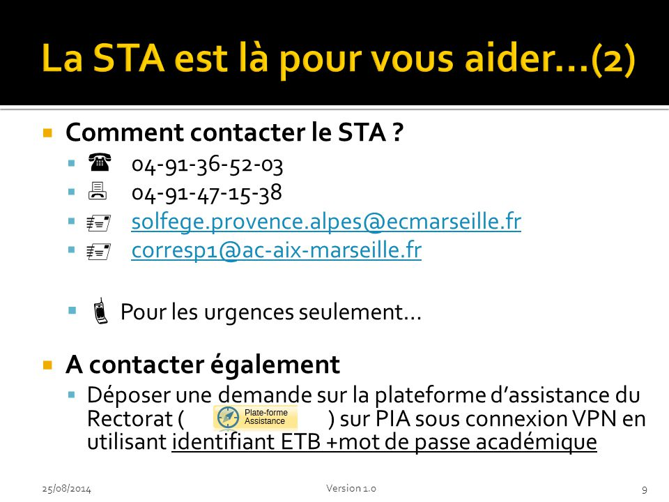 La STA est là pour vous aider…(2)