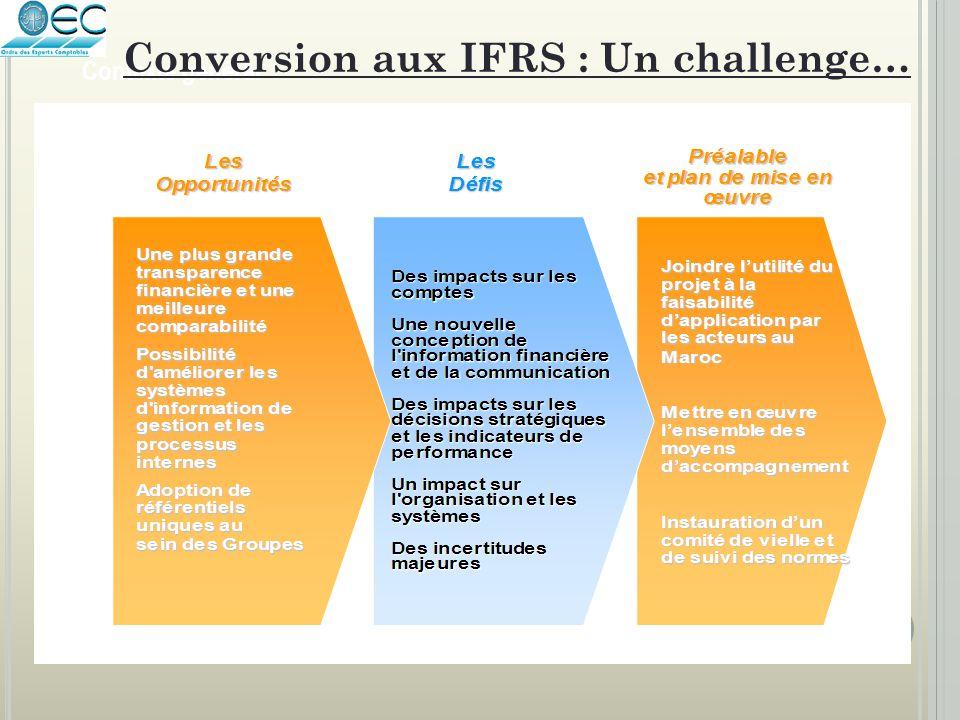 Conversion aux IFRS : Un challenge…
