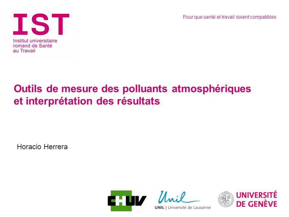 Outils de mesure des polluants atmosphériques et interprétation des résultats
