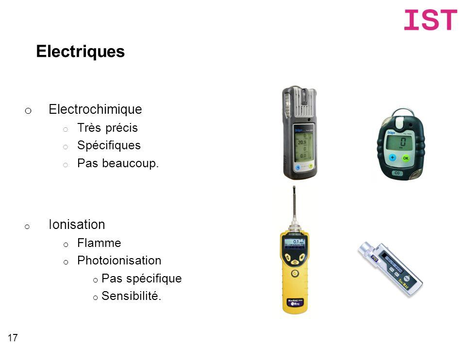 Electriques Electrochimique Ionisation Très précis Spécifiques
