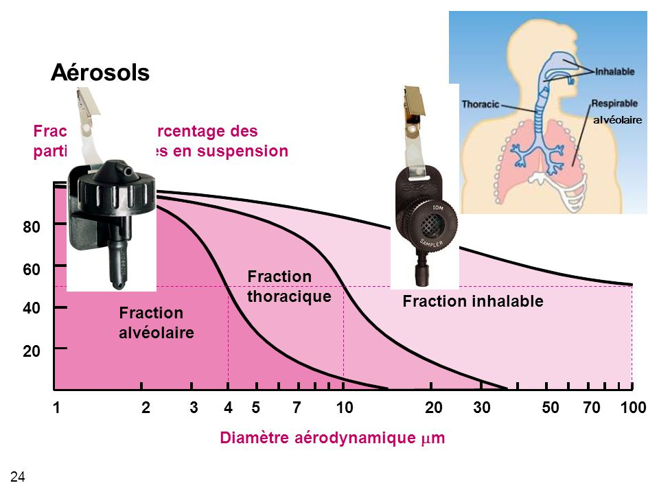 Aérosols Fraction en pourcentage des particules totales en suspension