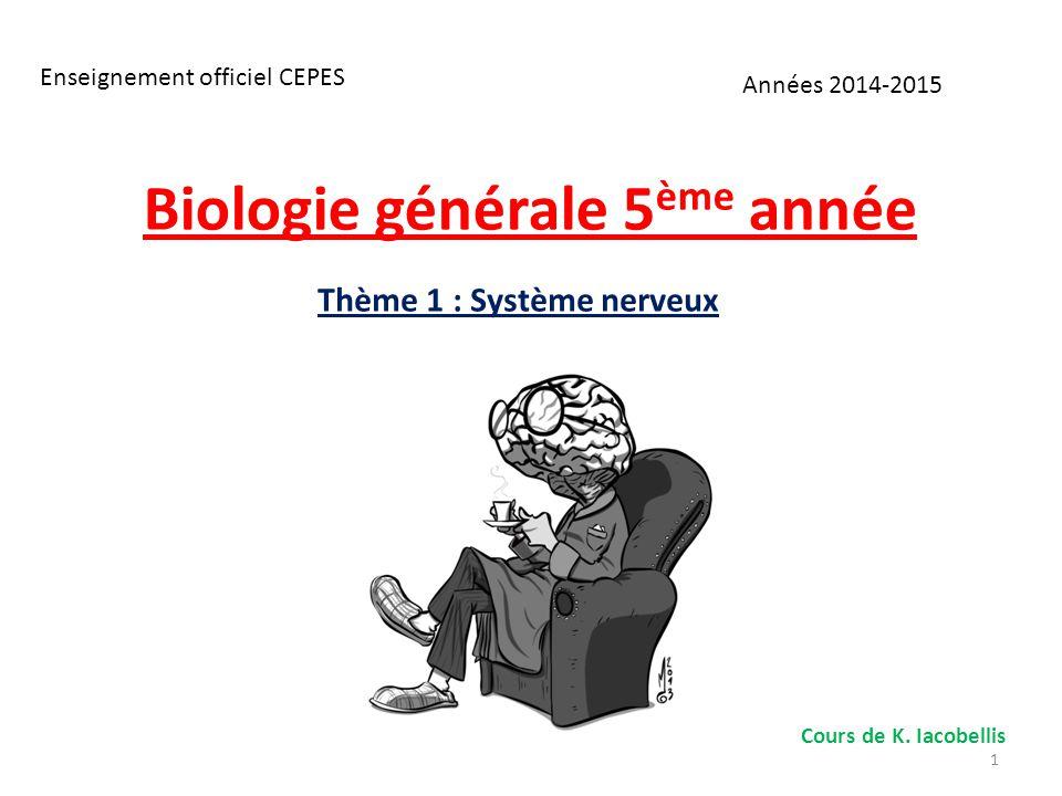 Biologie générale 5ème année