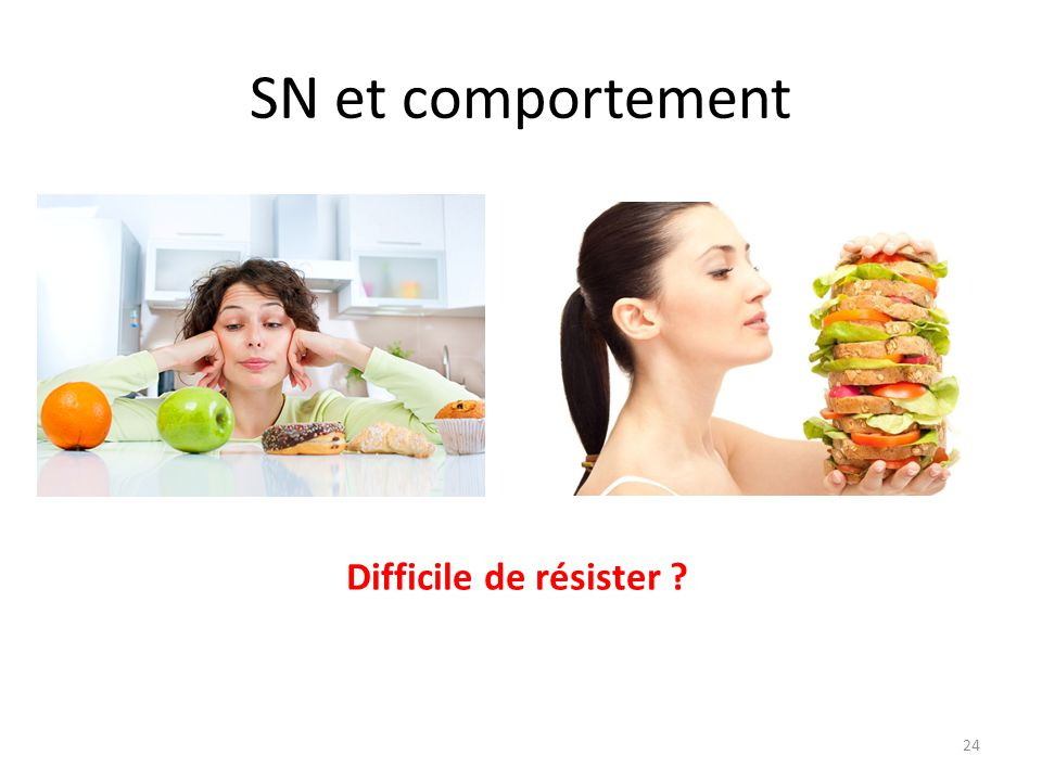 SN et comportement Difficile de résister
