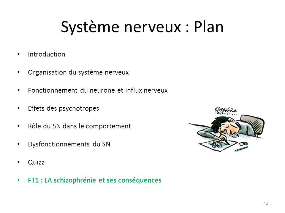 Système nerveux : Plan Introduction Organisation du système nerveux