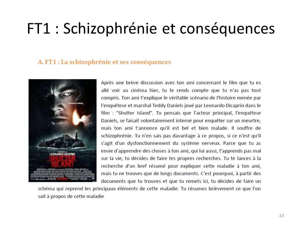 FT1 : Schizophrénie et conséquences