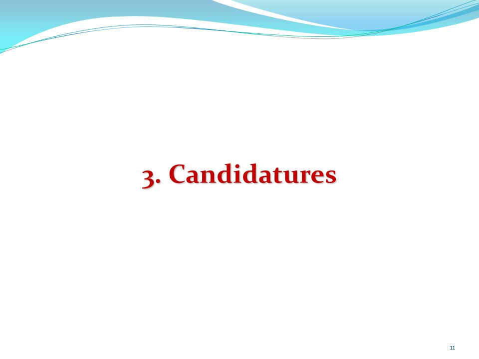 3. Candidatures