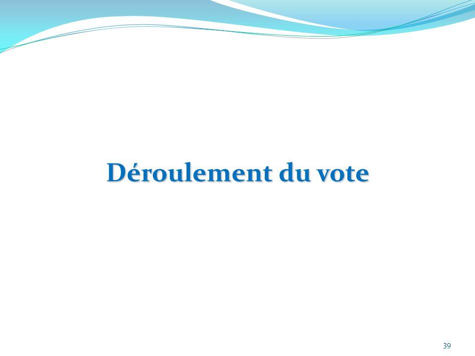 Déroulement du vote