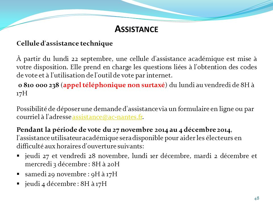 Assistance Cellule d assistance technique