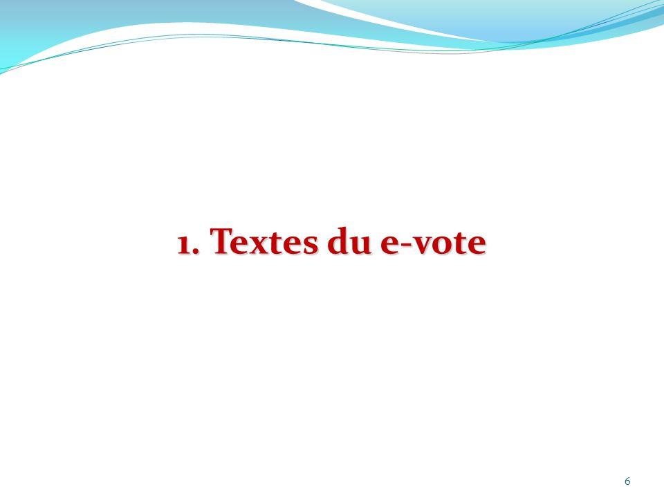 1. Textes du e-vote