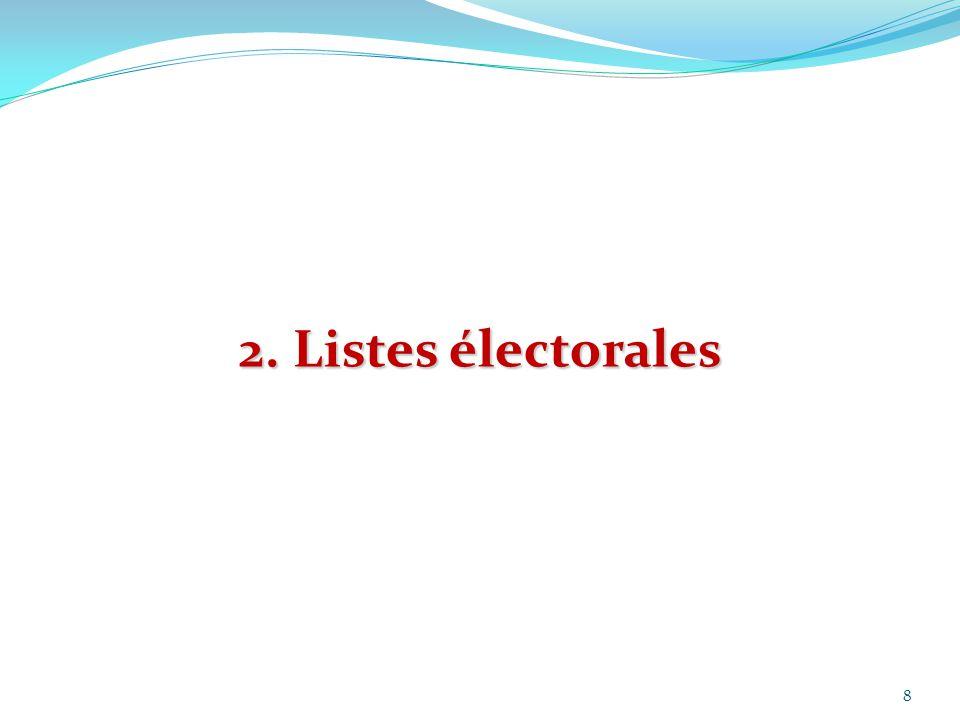 2. Listes électorales