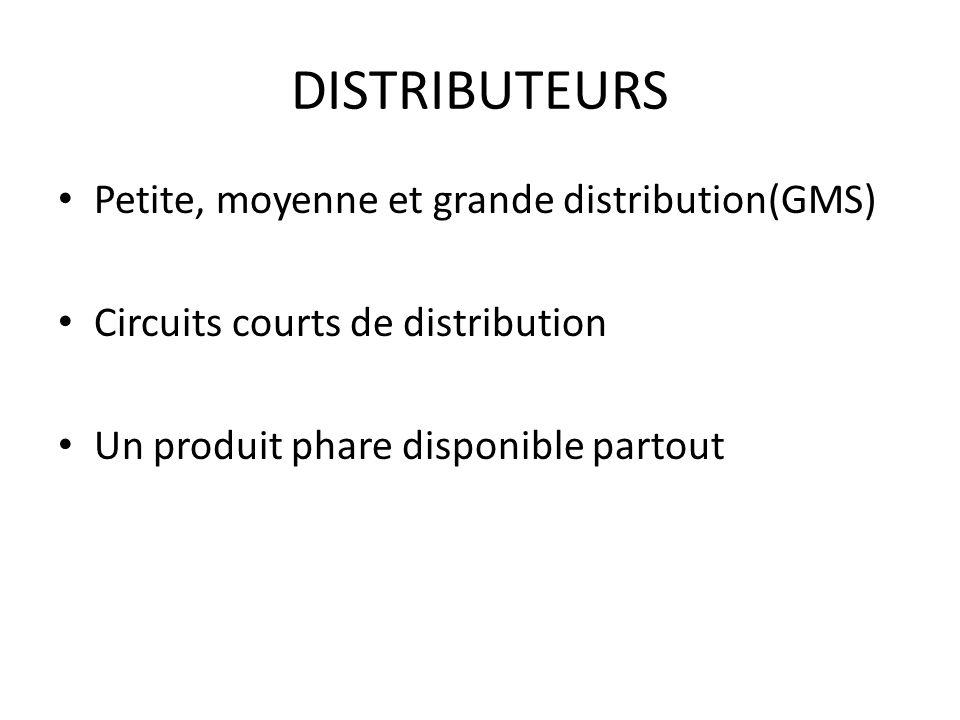 DISTRIBUTEURS Petite, moyenne et grande distribution(GMS)