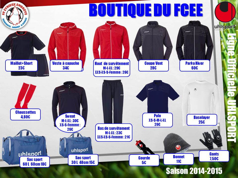 BOUTIQUE DU FCEE Ligne Officielle UHLSPORT Saison 2014-2015 Sac sport