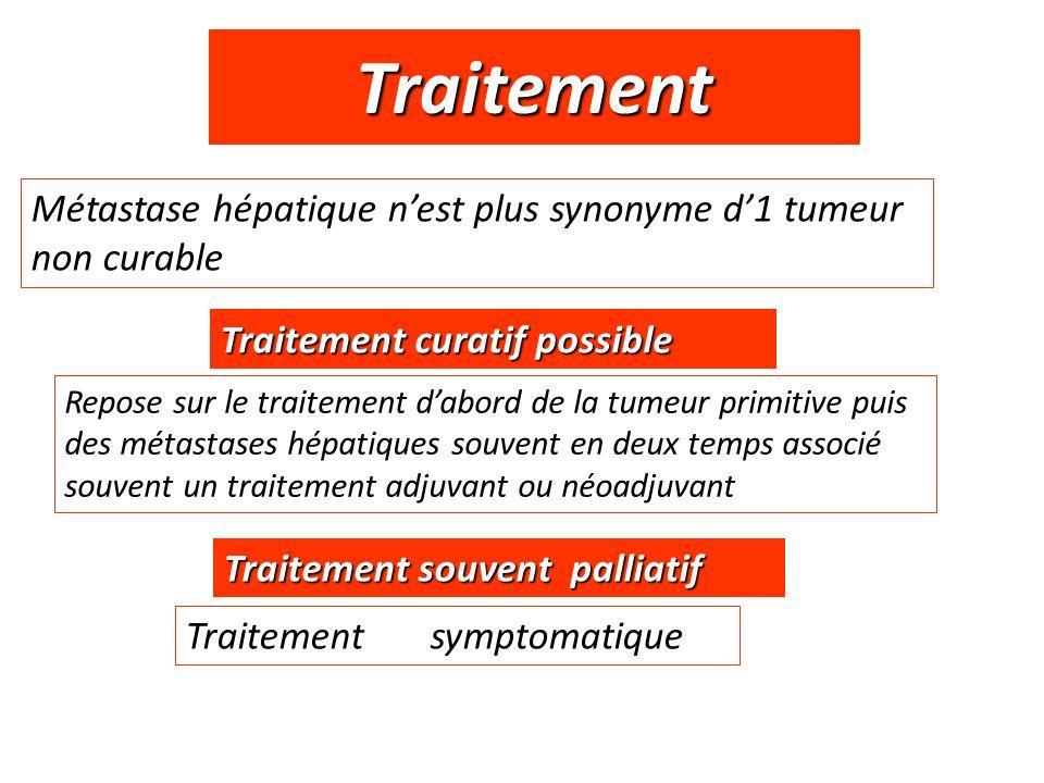 Traitement Métastase hépatique n'est plus synonyme d'1 tumeur