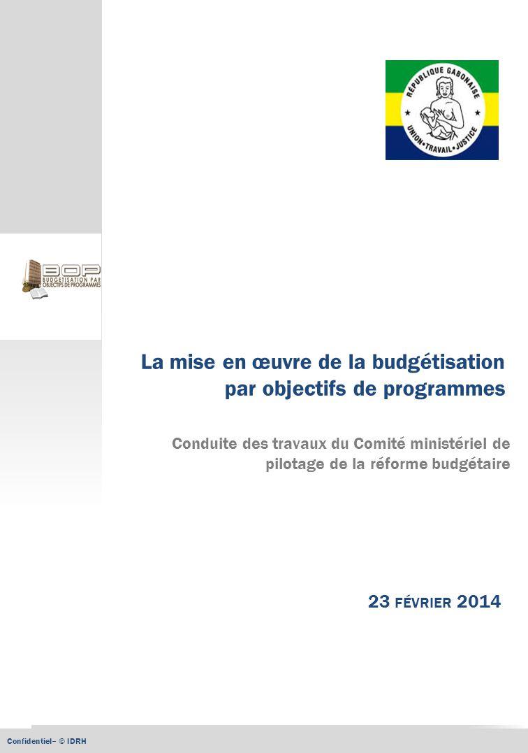 La mise en œuvre de la budgétisation par objectifs de programmes