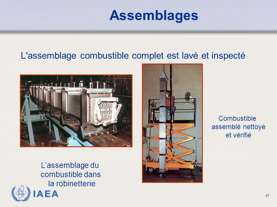 Assemblages L assemblage combustible complet est lavé et inspecté