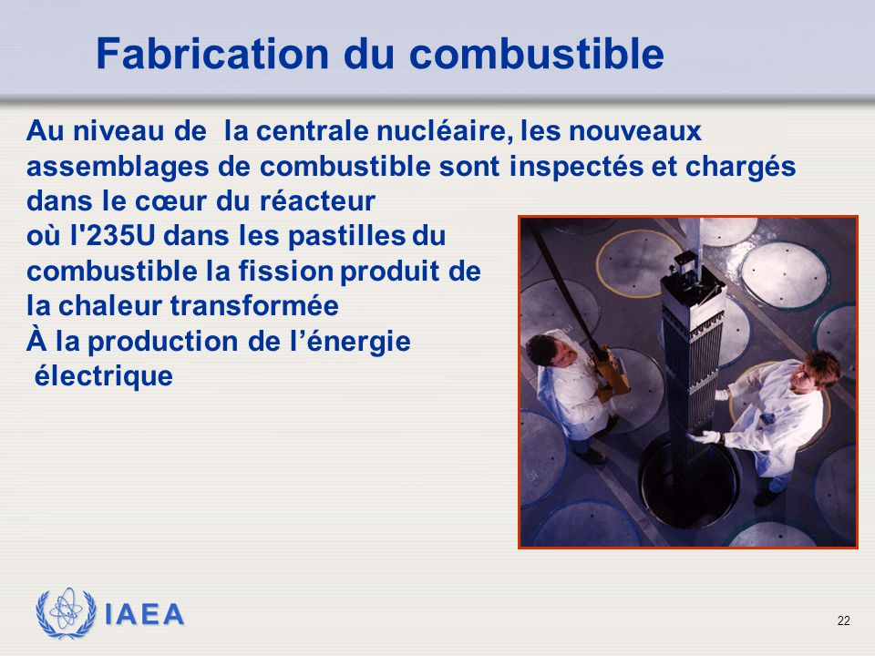 Fabrication du combustible