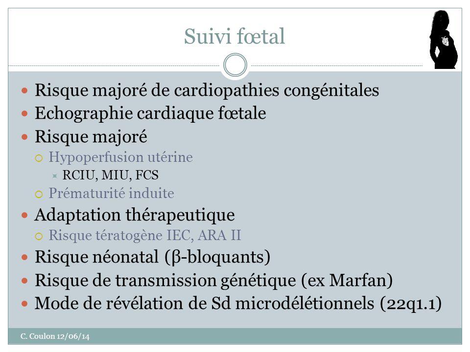 Suivi fœtal Risque majoré de cardiopathies congénitales