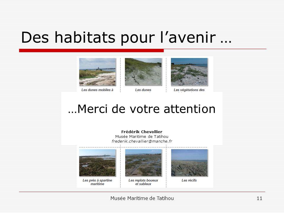 Des habitats pour l'avenir …