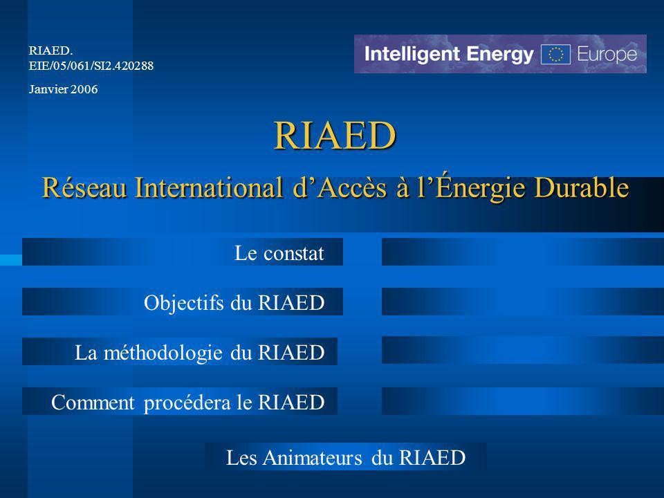 RIAED Réseau International d'Accès à l'Énergie Durable