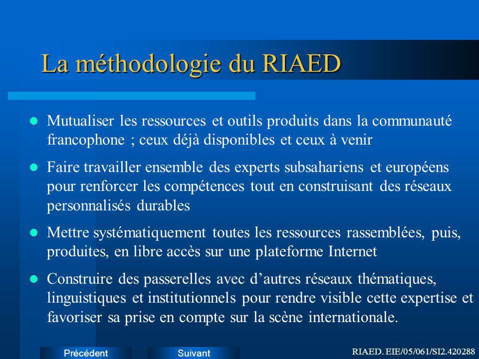 La méthodologie du RIAED