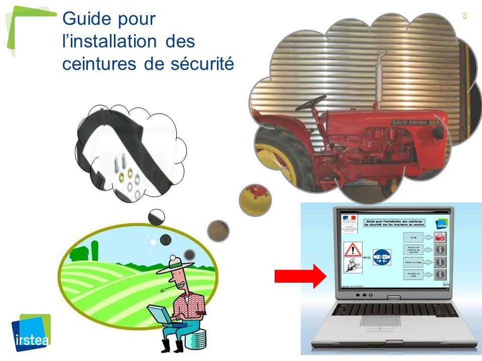 Guide pour l'installation des ceintures de sécurité