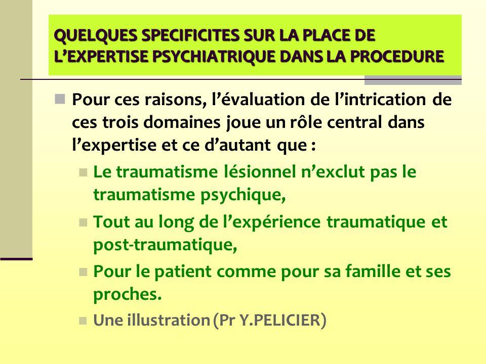 Le traumatisme lésionnel n'exclut pas le traumatisme psychique,