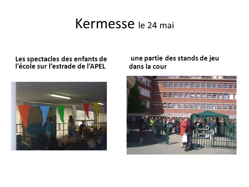 Kermesse le 24 mai une partie des stands de jeu dans la cour