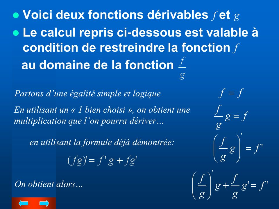Voici deux fonctions dérivables et
