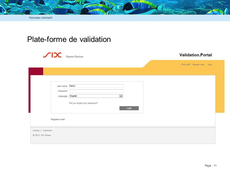 Plate-forme de validation