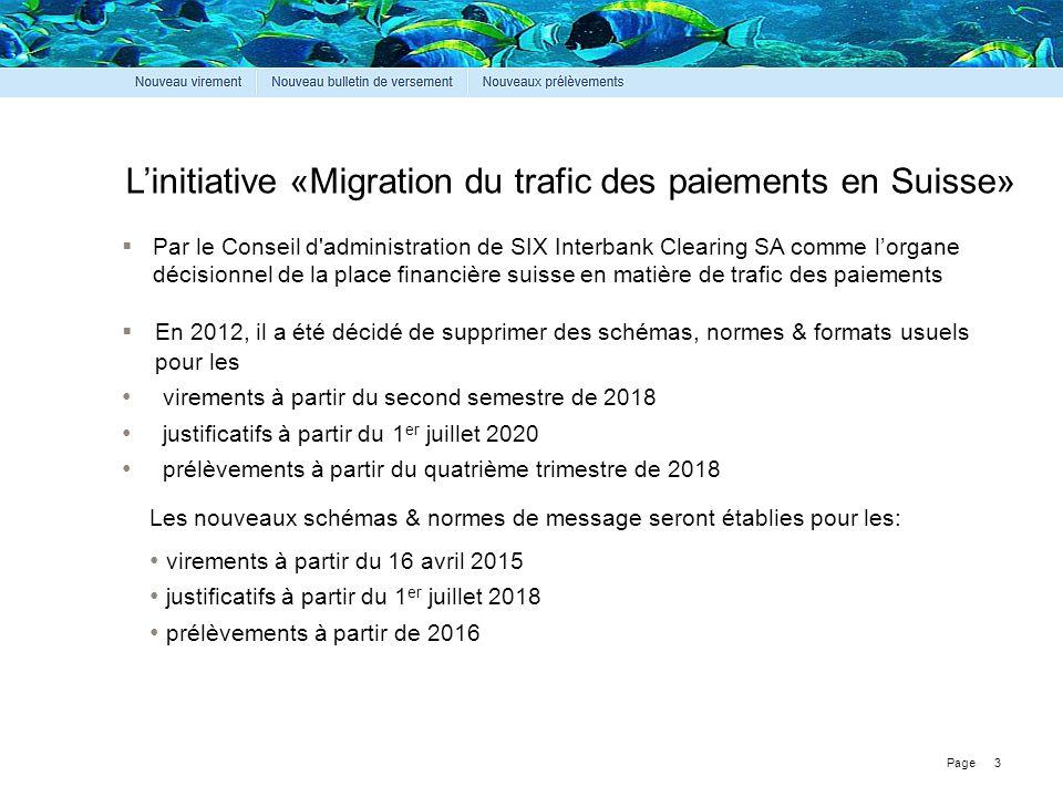 L'initiative «Migration du trafic des paiements en Suisse»