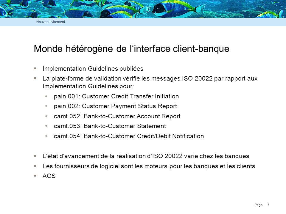 Monde hétérogène de l'interface client-banque