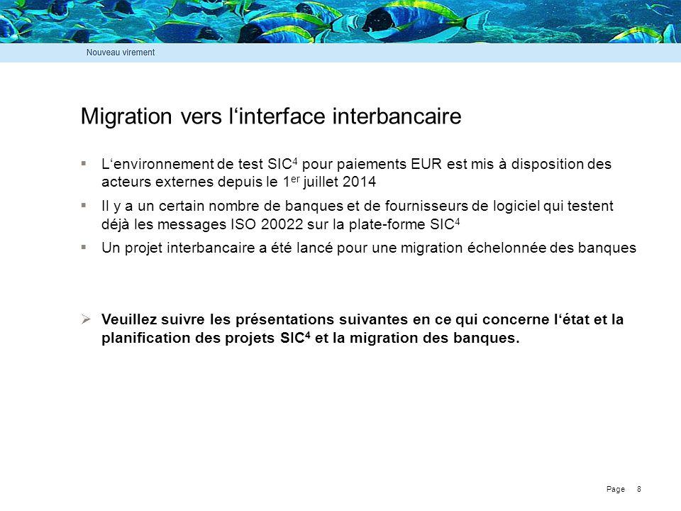 Migration vers l'interface interbancaire