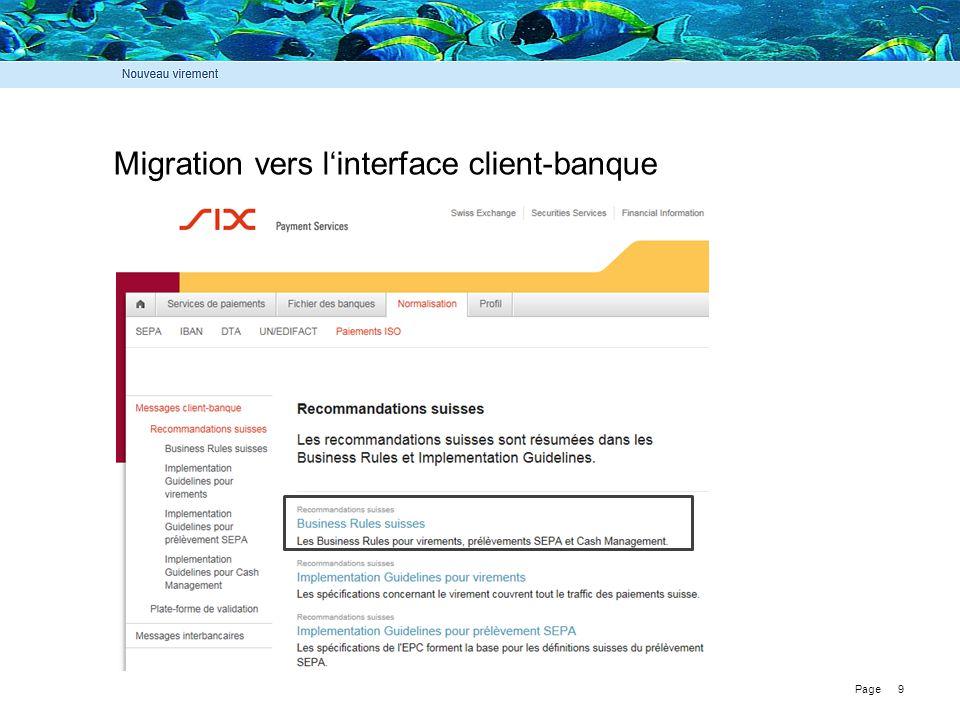 Migration vers l'interface client-banque
