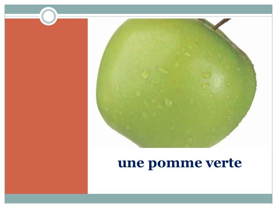 une pomme verte